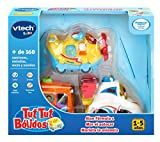 VTech Tuttut Lot de 3 Voitures Multicolore Bus, Petit Avion, Formule 1 Assorti
