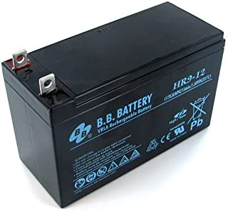 BB Battery HR9-12-BO - 12V 8Ah AGM Battery with Nut and Bolt Terminal