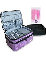 BaySedy Nail Polish Organizer - Holds 42 Bottles (15ml - 0.5 fl.oz), Nail Polish Case, Nail Polish Storage for Manicure Set, Purple (Bag and Gift Only)