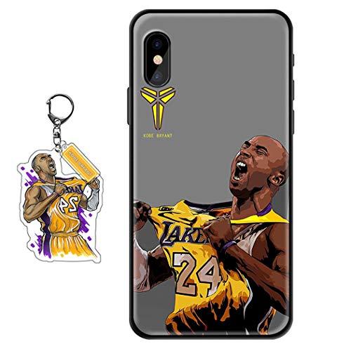 Samsung Galaxy S10E Case Black Mamba Kobe Design [with a Souvenir Keychain], Soft Silicone Gel Flexible TPU Basketball Fans Lakers Phone Case for Samsung Galaxy S10E
