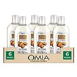 Omia, Fisio Shampoo Nutriente e Lisciante per Capelli Secchi e Crespi e Cuoio Capelluto Delicato, Ecobio Olio di Argan - 6 Confezioni da 250 ml