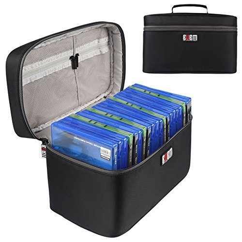 BUBM Portable PS4/ PS4 PRO/Xbox One Game Disc Carrying Case Storage Bag Travel Case(Hold 20 Discs)-Black