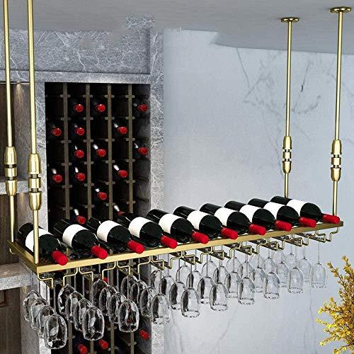 Metall Weinregale Hängen Weinglashalter Halter Stemware Rack Halter Regal Wandmontage Für Bars Küchen Display Shelf-Gold_100 * 30Cm