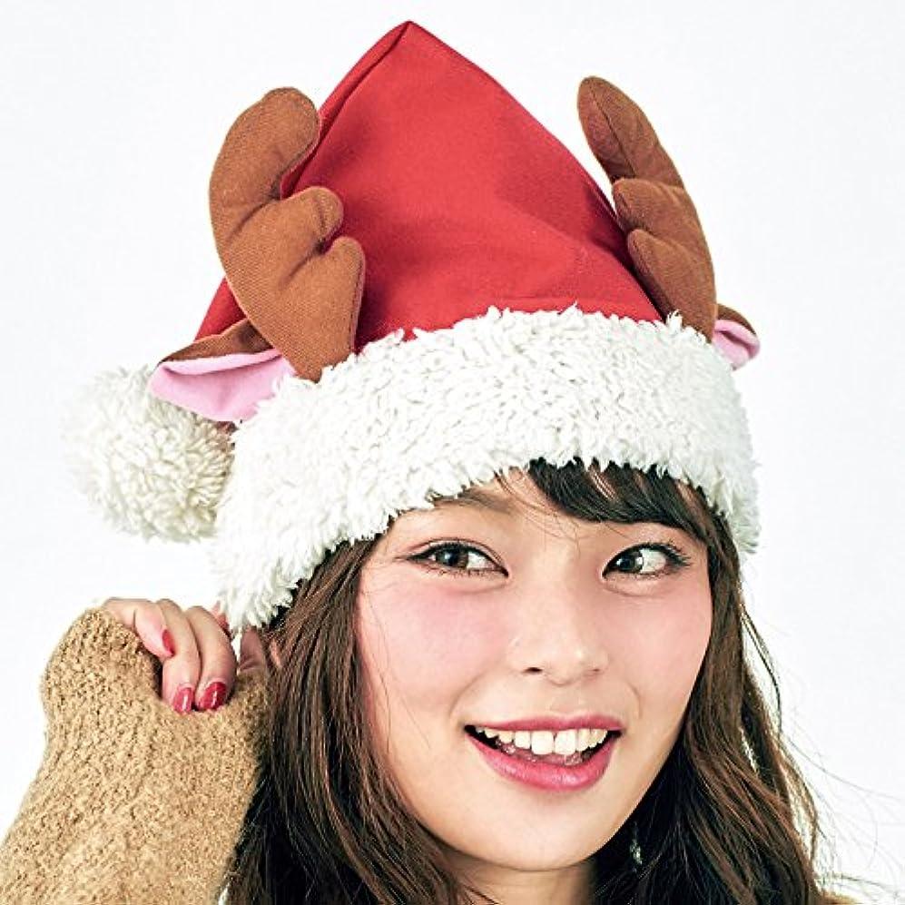 ジュース森人形クリスマス帽子シリーズ トナカイのフレンド サンタ帽子?男女共用?頭囲60㎝まで