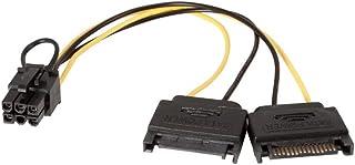 Kingwin 8-Inch Dual 15P SATA Power 6P PCI Express Power Cable (PCI-04)