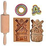 Stampi per Biscotti a Forma, in 3D, Decorazione per TDorte,Forme per Biscotti, Formine Biscotti Natale, Stampino Biscotti, Coppapasta,Houses
