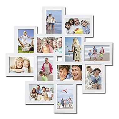 Homebeez Photo Collage Frame (White 12 openings)