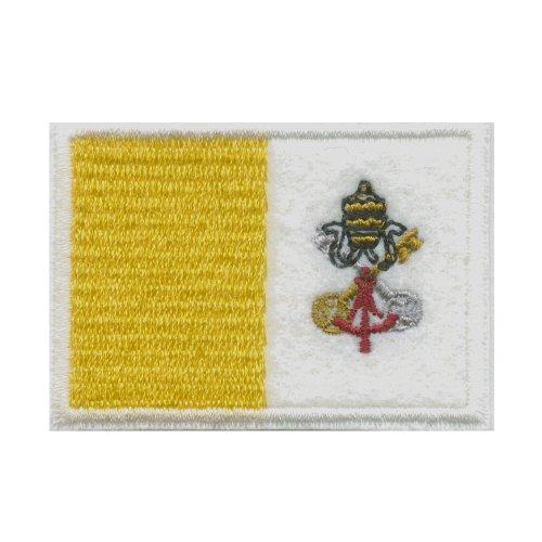 Rom Vatikanstadt Vatikan Papst Kirche Flagge Flag Patch Aufnäher Aufbügler 0392