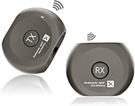 Avantree aptX Low Latency Wireless Transmitter and Receiver Set, Bluetooth Audio Adapter, Portable, for TV, Headphones, Speakers, Camera, etc, Plug & Play, No Delay, 3.5mm AUX & RCA - Lock