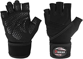 DIBEAR New Weight Lifting Gloves, Gym Workout, Cross...