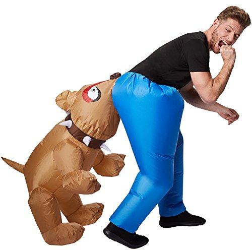 TecTake dressforfun Selbstaufblasbares Unisex Kostüm Hund | Batteriebetrieben | Uneingeschränkte Bewegungsfreiheit