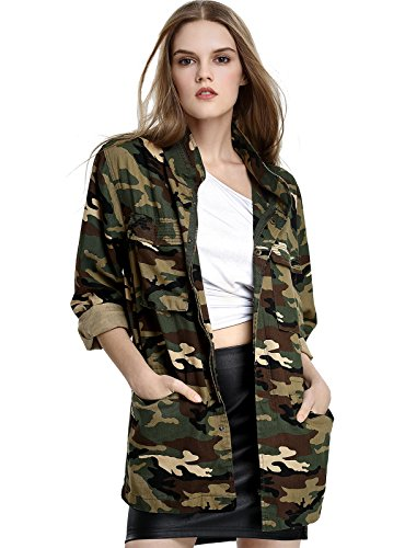 Escalier Women's Military Camo Jack…