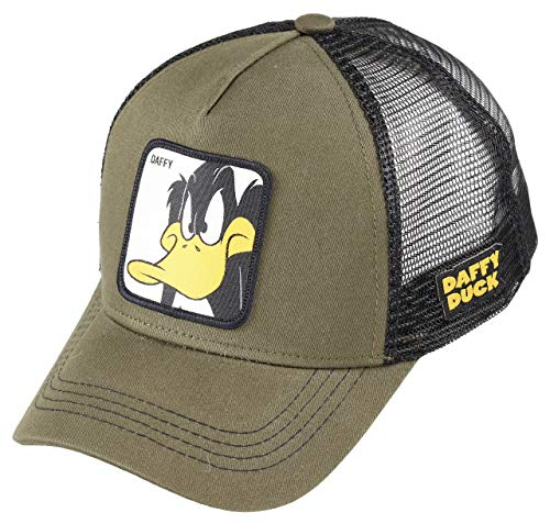 Capslab Daffy Duck Trucker Cap Looney Tunes Olive - One-Size