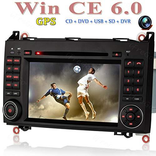 iFreGo 7 Zoll 2 Din Touchscreen Autoradio Für Mercedes Benz W169 A Klasse,W245 B-Klasse,W639 Viano, W906 Sprinter,GPS Navigation, Autoradio DVD CD, Autoradio Bluetooth,Autoradio dab+,Windows CE