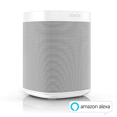 Sonos One - Altavoz Inteligente con Control por Voz de Amazon Alexa, Conexión Wifi y Compatibilidad con AirPlay en Dispositivos iOS, Color Blanco