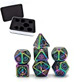 7 PCS Steampunk Style Metal Dice Metallic DND Game D&D Dice with Free Metal Case