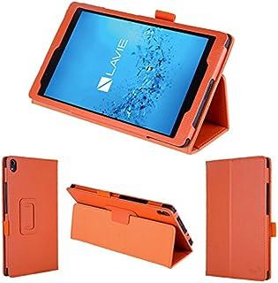 wisers 保護フィルム付 NEC LAVIE Tab S TS508/FAM PC-TS508FAM 8インチ タブレット 専用 ケース カバー [2017 年 新型] オレンジ