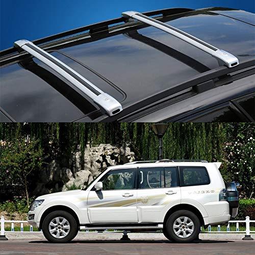 LLDS Aluminiumlegierung Dachträgerquerstange Dach Rail Cargo Bars Kompatibel mit Pajero (Size : for Mitsubishi Pajero 2018)