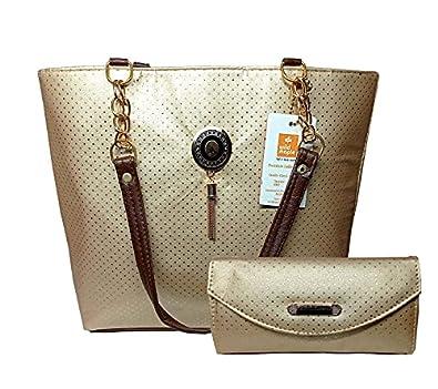 Wild Maple Premium PU Leather Girl's/Women's Shoulder Handbag With Hand Clutch Pack Of 2
