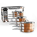 Gotham Steel Stackable Pots and Pans Set – STACKMASTER Complete 15 Piece Space