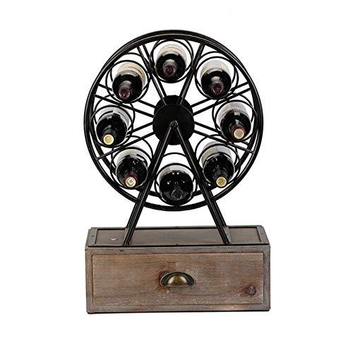 CESULIS FENGFAN-Rastrelliera per vino retrò sotto armadio in metallo da banco di stoccaggio ornamento per bar cucina 8 bottiglie di vino rack vino Display