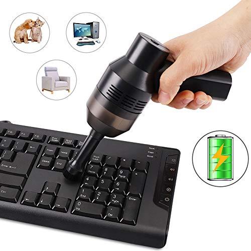 FREESOO Wiederaufladbarer Mini-Akku-USB-Staubsauger für Computer,Mac,Latop,Sofa,Schreibtisch,Klavier,Auto und Tierheim