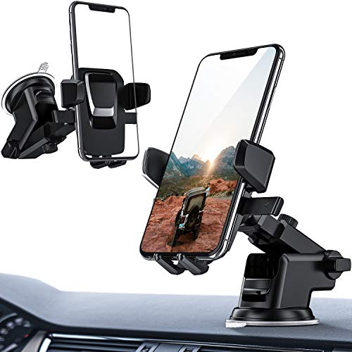 ORIbox Car Phone Mount, Dashboard Car Phone Holder, Washable Strong Sticky Gel Pad Fit for All Cell Phones