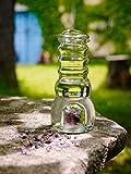 Cadus | Krug/Karaffe mit Edelsteinen und Glasdeckel | Hochwertiges Glas edles Design | Wasserbelebung | 1 Liter
