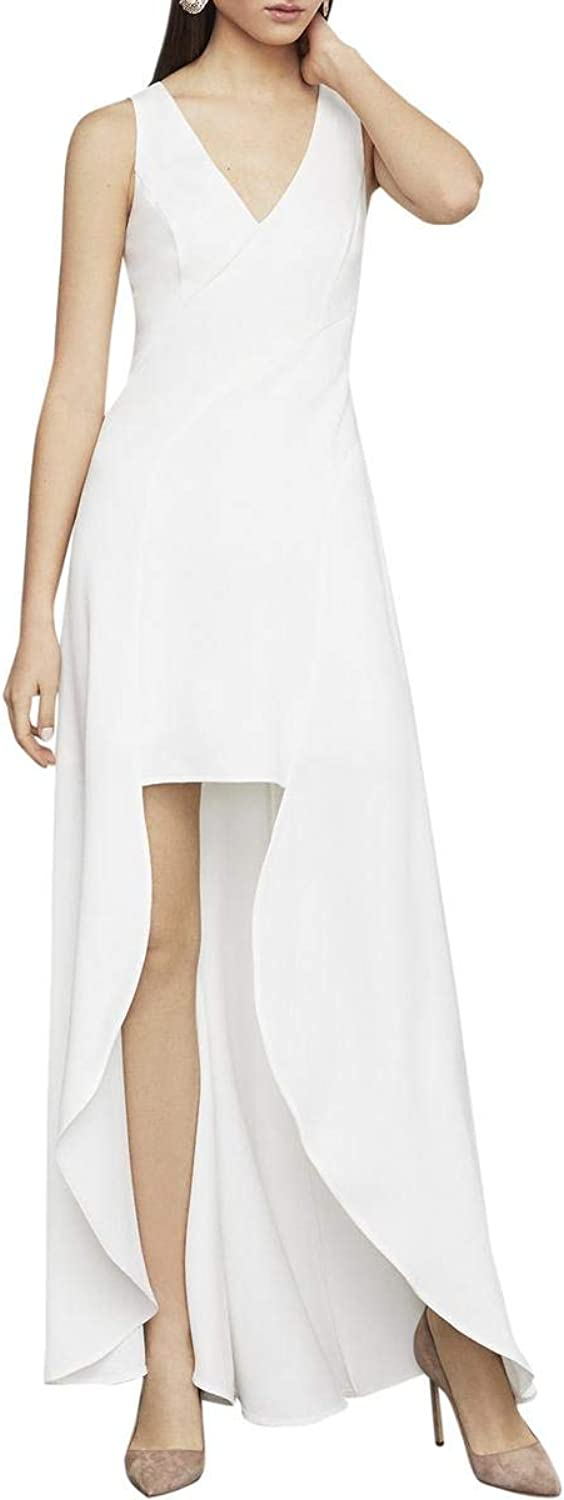 BCBG Max Azria Womens High Low Formal Evening Dress