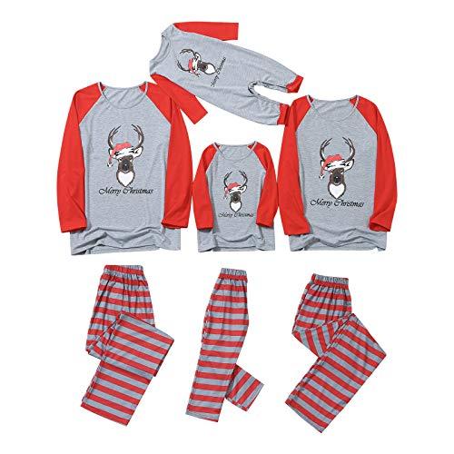 STORTO Christmas Pajama for Family Women Men Kids Baby, Christmas Decorations, Family Christmas Pjs Matching Sets