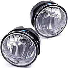 Bumper Fog Lights Compatible For Ford Expedition 2007-2014 & Ranger 2008-2011 Driving Lamps Replacement Assembly with H10 12V 42W Bulbs-1 Pair (Clear lens)