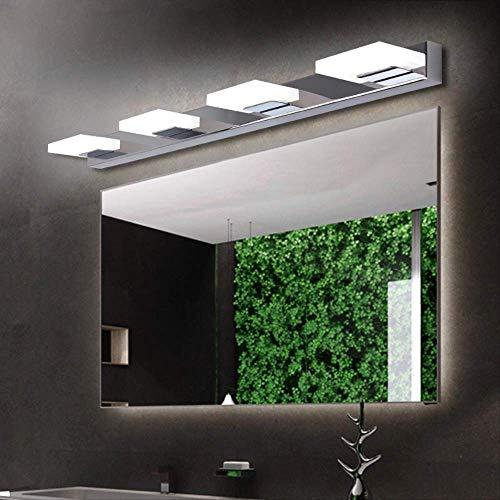 XZDZDJ Lampara de pared Iluminación de la vanidad LED llevó la luz del espejo L35 / 55/75/95/115 cm moderna lámpara de pared de acrílico cosmético impermeable baño iluminación apliques