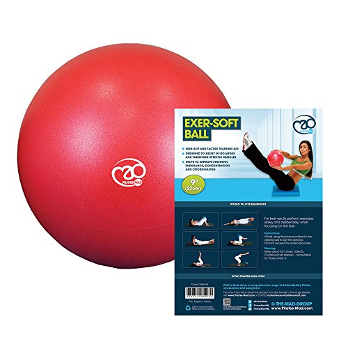 Fitness Mad Yoga o Pilates Exersoft, Exer-Soft Ball, 9/Red, Rojo, 9 Inch