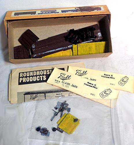 Vintage HO Scale Composite Gondola Car Train Kit - Ball Glass Jars Near Complete, Partially Painted AS is
