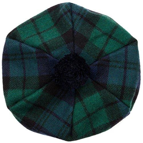 Oxfords Cashmere Scottish Tam with Pompom. Black Watch