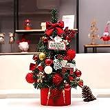 GCSQF Albero di Natale Artificiale Deco Aghi di Pino Floccato Albero Decorativo da Tavolo Mini Albero di Natale Set per Regalo per Bambini in Ufficio Include Ornamenti GCSQF210814(Color:A;Size:60 Cm)