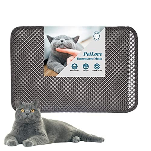 PetLove Katzenklo-Matte Katzenklo Vorleger Katzenstreumatte Schmutzfangmatte mit Wabendesign - Unterlage für Katzentoilette 60x40cm