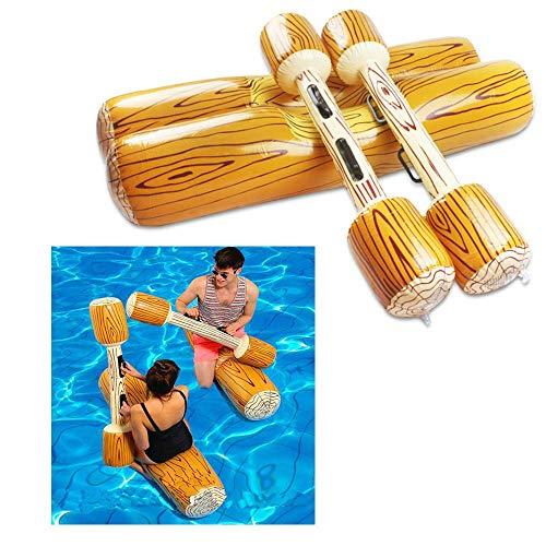 Buitenwaterrecreatie AJH Opvouwbaar Draagbaar opblaasbaar vlotter Zwembad voor volwassenen Waterspeelgoed Nieuwigheid zwembad decoratie houten stok zwemmen ring speelgoed zomer entertainment