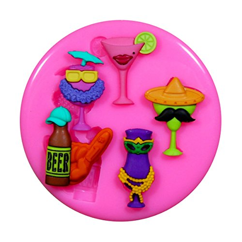 Wein Cocktail und Bier Glas Silikon Form für Kuchen Dekorieren, Kuchen, kleiner Kuchen Toppers, Zuckerglasur Sugarcraft Werkzeug durch Fairie Blessings