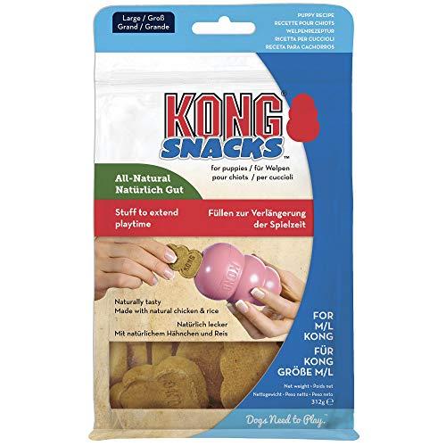 KONG - Snacks - Premi Naturali per Cani (Utilizzato al Meglio Giocattolo in Gomma Resistente) - Biscotti Cucciolo - per Cani di Taglia Grande