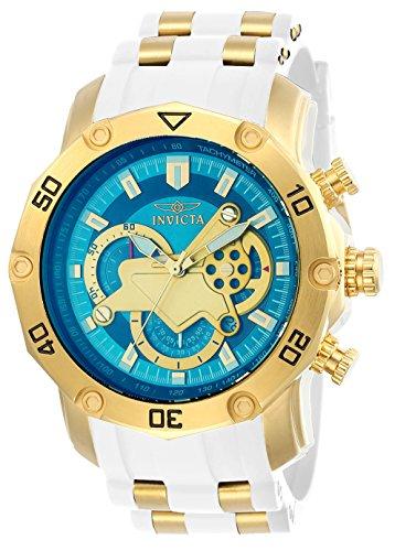 Invicta Men's Pro Diver Stainless Steel Quartz Watch with Silicone Strap, White, 26 (Model: 23423)