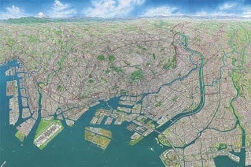 Puzzle 1000 Teile - Tokyo aus der Luft