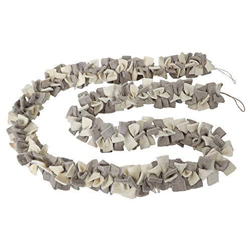 De KultureTM handgemaakte vilten boog slinger (grijs & off-white) 72