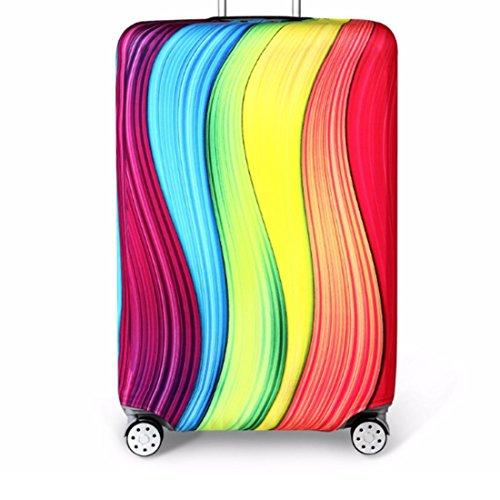 Bestja Elastica Proteggi Valigia Suitcase Luggage Cover, Lavabile Viaggio Bagagli Coprire Copri Valigia Copertura per Valigia (Arcobaleno, M)