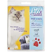 Soft Claws for Cats - CLS (Cleat Lock System), Size Small, Color Red