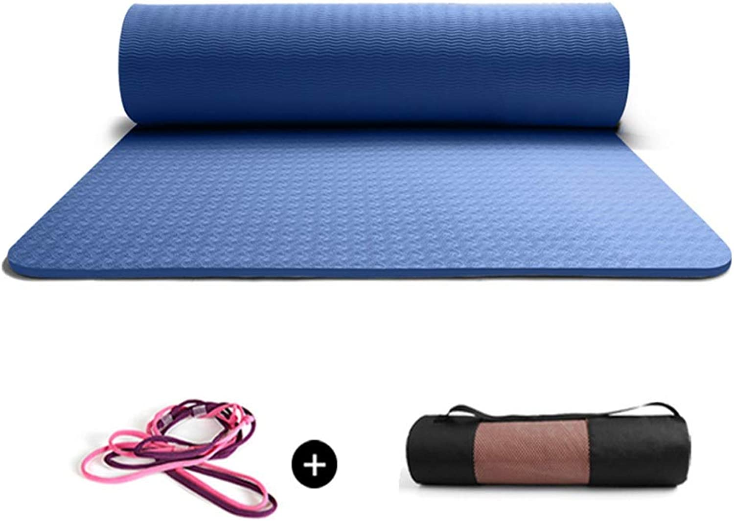 Yoga Pilates Mats Eco Friendly Fitness Training Mat Camping Yoga Cushion for Men and Women with Carrying Strap18380cm 6 colors Available Variety of colors Available (color   blueee, Size   6mm)