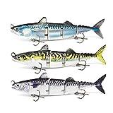 ODS - Señuelo de pesca de atún de 4 segmentos con anzuelos para agua dulce y salada (kit 1)