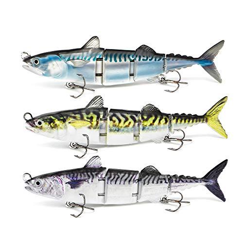 ODS Leurre de pêche au thon 4 segments articulés avec...