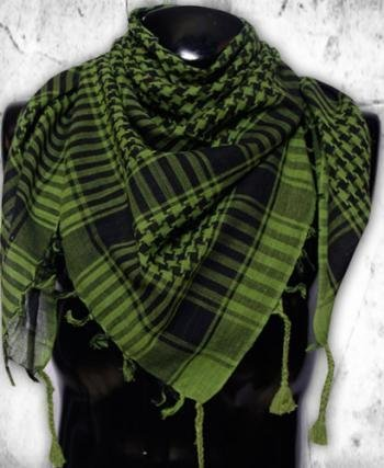 KTW Products Premium Head Neck Scarf Military Tactical Shemagh Keffiyeh Wrap 100% Cotton OD Green Militia Guerrilla Style