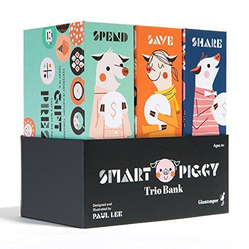Giantsuper Smart Piggy Trio Bank: 3-in-1 Money-Wise Educational Piggy Bank